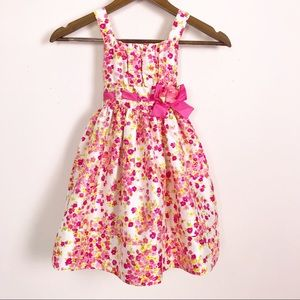 Youngland Floral Easter Summer Sleeveless Dress